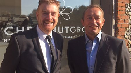 Philip Turner, managing director of the Chestnut Group, right, with Steve Smith, group general manag