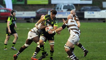 Bury v Southend - rugby action.