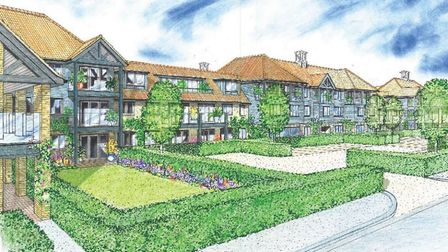 Drawing of what the new care home on Nelson Road in Diss could look like. Picture: RM Architects