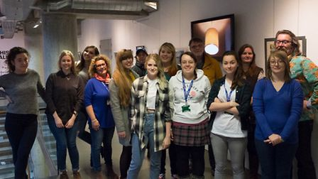 Some of the Year 3 BA (Hons) photography students from UCS who have contrictured to the Elsewhere ex