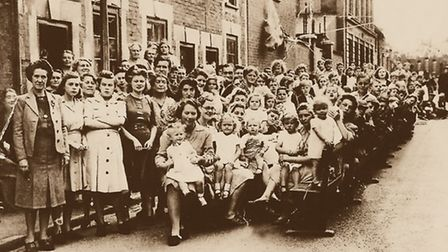Long Brackland's end-of-the-Second-World-War street party. Photo: courtesy Amberley Publishing