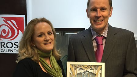 Elizabeth Rose, marketing manager and Michael Rose, managing director, of Rose Calendars with the co
