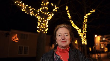 Claire Fried has designed the Christmas lights on the Market Hill in Woodbridge.