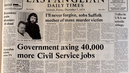 Front page of the EADT, December 7, 1979