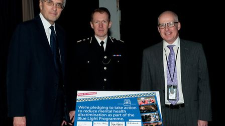 Chief Constable Stephen Kavanagh, Police and Crime Commissioner Nick Alston, and Director of Essex a