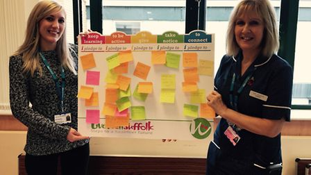 Staff at West Suffolk Hospital have been pledging to take steps towards a healthier future.