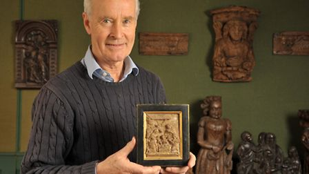 Andrew Singleton, owner of Suffolk House Antiques in Yoxford, is holding a Christmas Selling Exhibit