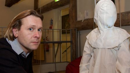 Alex McWhirter at Moyse's Hall Ghosts of Christmas Past, Present, Future. Photo Chris Morris
