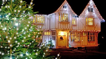 The Guildhall, decorated for Lavenham Christmas Fair. Photo: Ben Brown