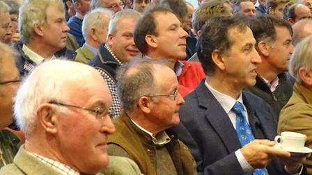 Delegates at a sugar quota meeting for growers supplying the sugar beet factory at Bury St Edmunds.