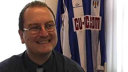 Jon Burns, chairman of Colchester United Supporters' Association.