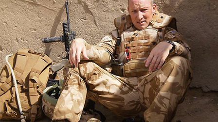 Alasdair Ross relaxes in Afghanistan