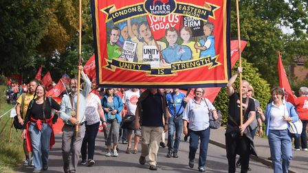 Burston Strike School rally parades through the Norfolk village. This year the event will be a three