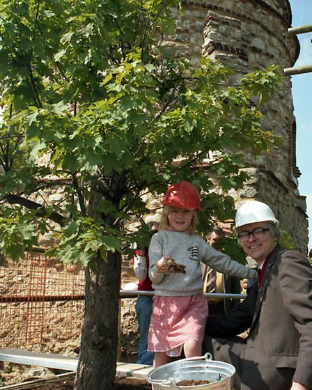 From the EADT archives, Sir Bob Russell with his daughter Nicola planting a tree at Colchester Castl