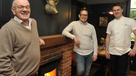The Unruly Pig owner Brendan Padfield, manager Kevin Hunter and head chef Dave Wall are preparinig t