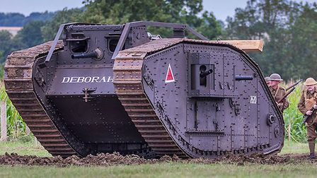 Mark IV Tank, Deborah, as seen on Channel 4 with Guy Martin. Armourfest at Norfolk Tank Museum. Phot