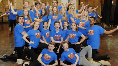 The Children's Theatre Company rehearse their production of Joseph, coming to The Apex. Photo: Simon