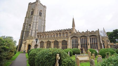 Lavenham was one of the churches targeted in Suffolk