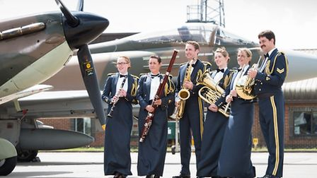 Members of The Band of the Royal Air Force College, SAC Michelle Bee, Corporal Nicola Juden, SAC Ste