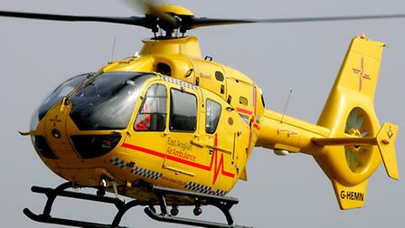 The East Anglian Air Ambulance was sent to the scene