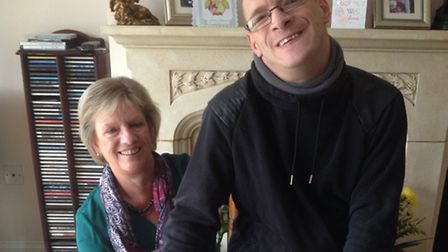 Wendy Smith, Matt and his dog JD at the family home near Colchester. 'Almost without exception, ever