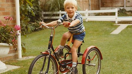 Matt Smith on his Pashley Pickle tricycle in 1984