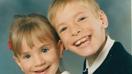 Butter wouldn't melt... A school photograph of supportive sister Nikki and Matt Smith in 1991