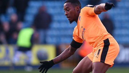 Callum Harriott, who fired the U's into an early lead at Burton this afternoon