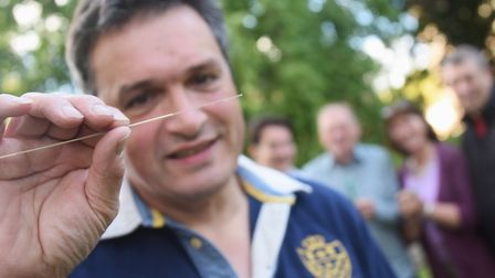B4RN East Anglia director David Evans with a piece of fibre optic cable, used for transmitting 1,000