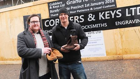 Sudbury Cobblers and Keys man who has just signed a lease on a new shop to replace the one that burn