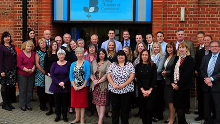 The Suffolk Chamber of Commerce team, which has been nominated for two national awards