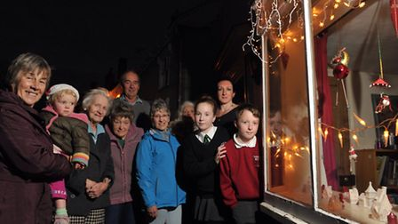 Residents of Double Street, in Framlingham, unveiled their first Christmas window at number 10