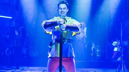 Sandy Grigelis as Sprout in The Sword in the Stone at the New Wolsey Theatre