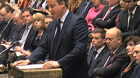 Prime Minister David Cameron makes a statement to MPs in the House of Commons where he is setting ou