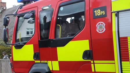 The fire was in a three-bed property this morning