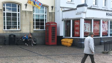 Diss Town Council is proposing to adopt the disconnected red phone box at Market Place and move it t