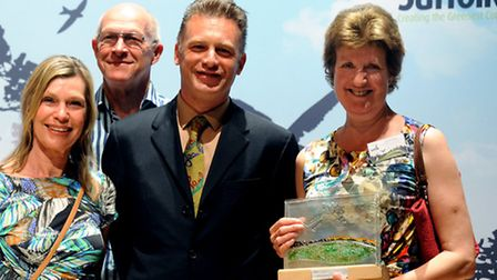 Creating the Greenest County Awards 2015 held at Snape Maltings Waldringfield Flood Defence Group w