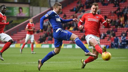 Freddie Sears gives Ipswich a two-goal lead just before half-time at Charlton