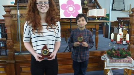 Lydia Clifford and Thomas Simon, winners in Hadleigh's inaugural Young Musician of the Year competit