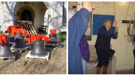 The repaired bells of St Mary's Church at Redgrave which are to be rededicated at a service. Picture