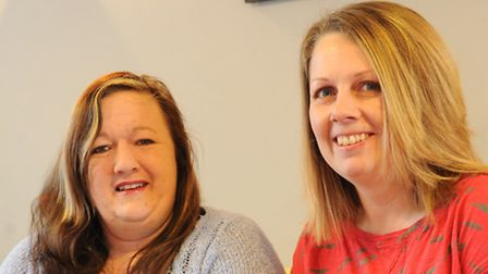 Anne Humphrys, left, pictured with Bec Jasper, co-founders of the PACT support group for parents and