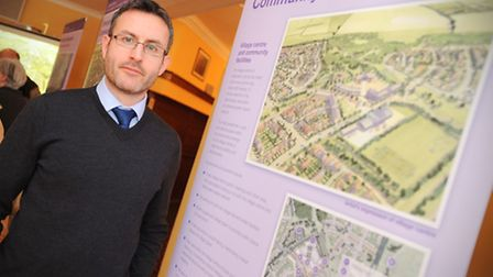 Chilton Woods development and plans consultation, Sudbury. Pictured Neil Hall (Technical Director -