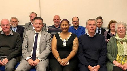 The 11 current members of Diss Town Council which has co-opted two more new members to fill a short