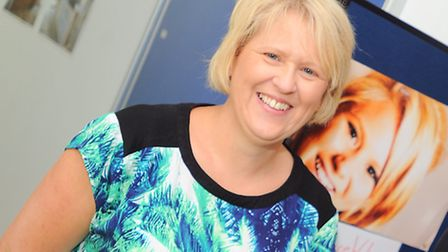 Melanie Webster at the first-ever heart screening days at Stowmarket High School in 2014