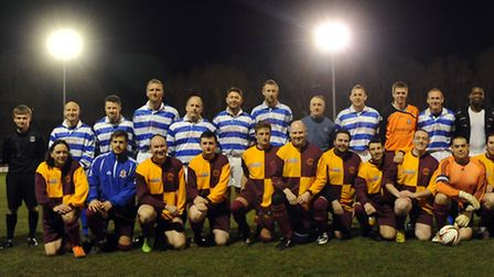 The memorial football match at Stowmarket Town Football Club in memory of Lily Webster. Stowmarket H