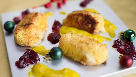 Christmas treats by Charlotte Smith-Jarvis - turkey croquetas with sage and onion aioli
