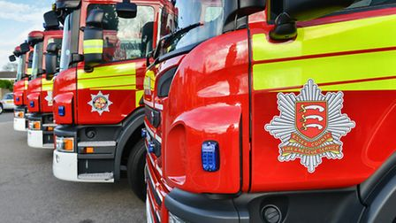 Seven new fire engines bought by Essex County Fire and Rescue Service. Photo: David Stubbs