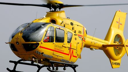The air ambulance was called to the scene