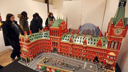 The Lego exhibition at Moyses Hall Museum in Bury. One of the exhibits on show.