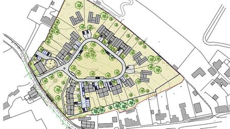 Plans for 30 homes at Redgrave. Picture: Hollins Architects/Mid Suffolk Council
